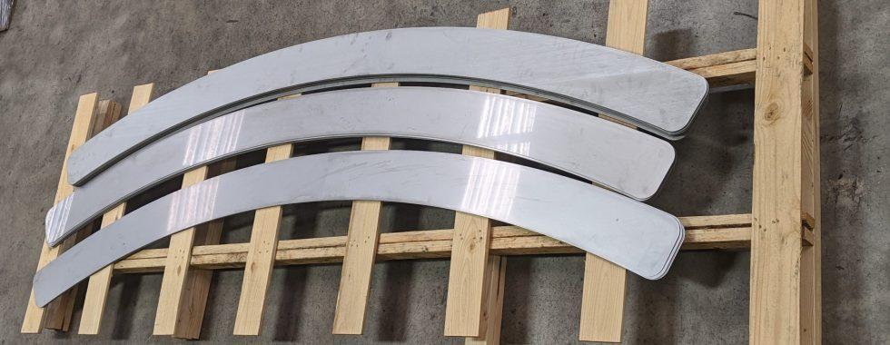 aluminum water-jet cut shim